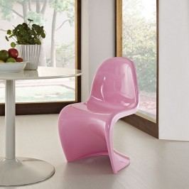 Slither Dining Side Chair in Pink