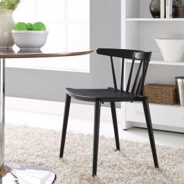 Spindle Dining Side Chair in Black