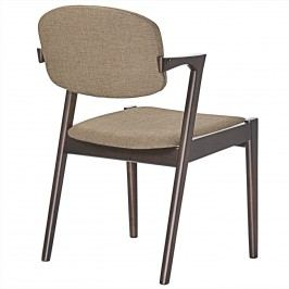 Spunk Dining Armchair in Walnut Latte
