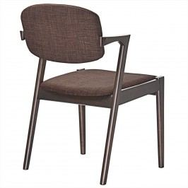 Spunk Dining Armchair in Walnut Mocha