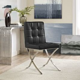 Trieste Vinyl Dining Chair in Black