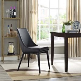 Viscount Vinyl Dining Chair in Black