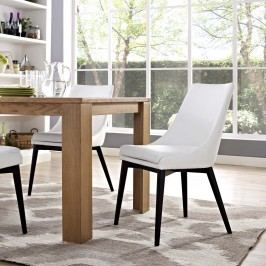Viscount Vinyl Dining Chair in White