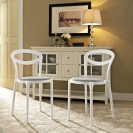 Assist Dining Side Chair Set of 2 in White Gray