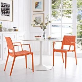 Astute Dining Set Set of 2 in Orange