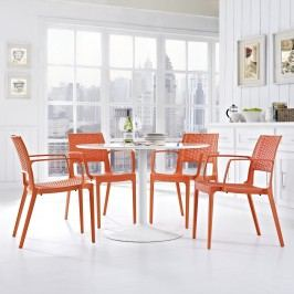 Astute Dining Set Set of 4 in Orange