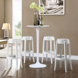 Casper Bar Stool Set of 4 in White