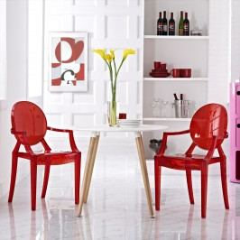 Casper Dining Armchairs Set of 2 in Red