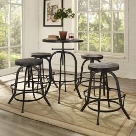 Collect Bar Stool Set of 4 in Black