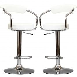 Diner Bar Stool Set of 2 in White