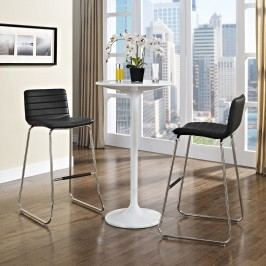 Dive Bar Stool Set of 2 in Black