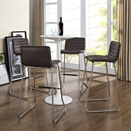 Dive Bar Stool Set of 4 in Brown