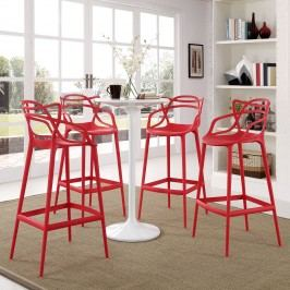 Entangled Bar Stool Set of 4 in Red