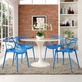 Entangled Dining Set Set of 4 in Blue