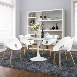 Envelope Dining Set Set of 4 in White