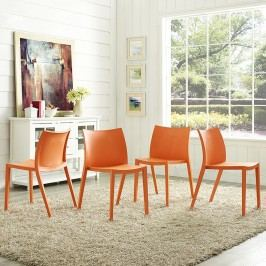 Gallant Dining Side Chair Set of 4 in Orange