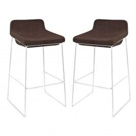 Garner Bar Stool Set of 2 in Brown