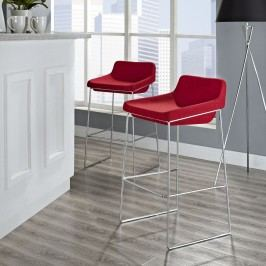 Garner Bar Stool Set of 2 in Red