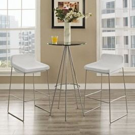 Garner Bar Stool Set of 2 in White