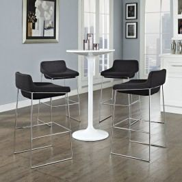 Garner Bar Stool Set of 4 in Black