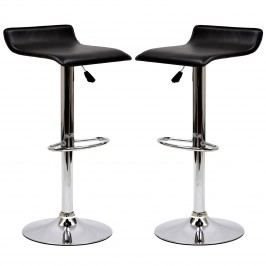 Gloria Bar Stool Set of 2 in Black
