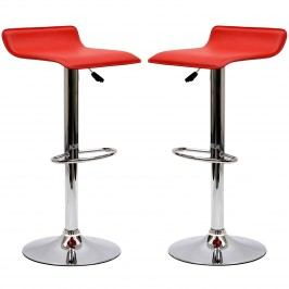 Gloria Bar Stool Set of 2 in Red