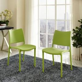 Hipster Dining Side Chair Set of 2 in Green