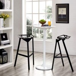 Launch Stacking Bar Stool Set of 2 in Black