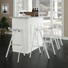 Launch Stacking Bar Stool Set of 4 in White