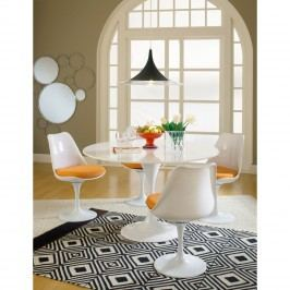 Lippa 5 Piece Fiberglass Dining Set in Orange