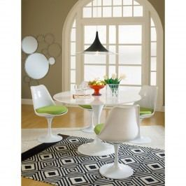Lippa Dining Side Chair Fabric Set of 4 in Green