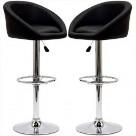 Marshmallow Bar Stool Set of 2 in Black