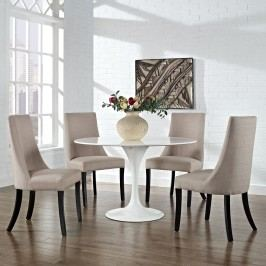 Reverie Dining Side Chair Set of 4 in Beige