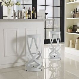 Ribbon Bar Stool Set of 2 in White