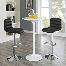 Ripple Bar Stool Set of 2 in Black