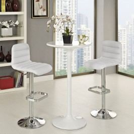 Ripple Bar Stool Set of 2 in White