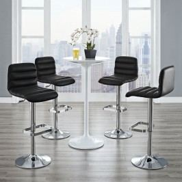 Ripple Bar Stool Set of 4 in Black