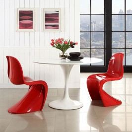 Slither Dining Side Chair Set of 2 in Red