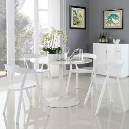 Tread Dining Set Set of 4 in White