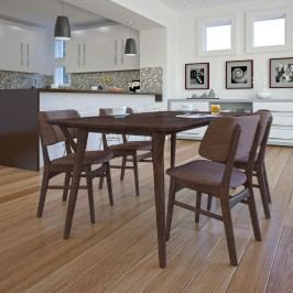 Vestige Dining Side Chair Set of 4 in Walnut Mocha