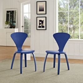 Vortex Dining Chairs Set of 2 in Blue