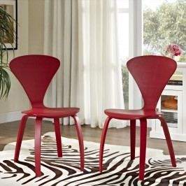 Vortex Dining Chairs Set of 2 in Red