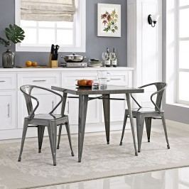 Alacrity Metal Dining Table in Gunmetal