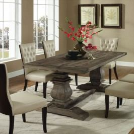 Column Wood Dining Table in Brown