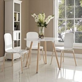 Track Circular Dining Table in White