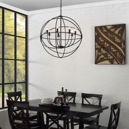 Atom Chandelier in Black