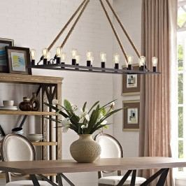 Bridge Chandelier in Brown