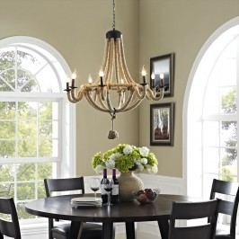Coronet Chandelier in Brown