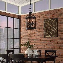 Lantern Metal Chandelier in Black
