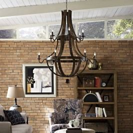 Trebuchet Chandelier in Brown